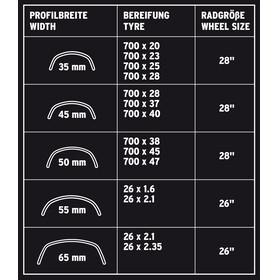 """SKS B35 Zestaw błotników rowerowych 28"""" z odblaskowymi paskami czarny"""